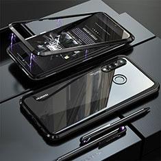 Custodia Lusso Alluminio Laterale Specchio Cover per Huawei P30 Lite Nero