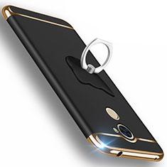Custodia Lusso Alluminio per Huawei Enjoy 7 Plus Nero