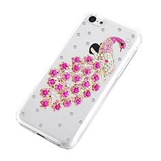 Custodia Lusso Diamante Strass Gioielli Pavone per Apple iPhone 5C Rosa