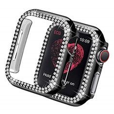 Custodia Lusso Diamante Strass Gioielli per Apple iWatch 5 44mm Nero