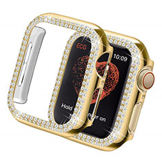 Custodia Lusso Diamante Strass Gioielli per Apple iWatch 5 44mm Oro