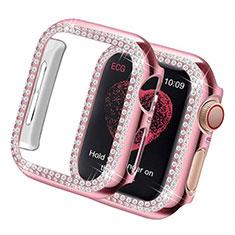Custodia Lusso Diamante Strass Gioielli per Apple iWatch 5 44mm Rosa
