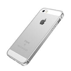 Custodia Lusso Laterale Alluminio per Apple iPhone SE Argento
