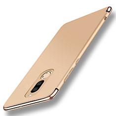 Custodia Lusso Metallo Laterale e Plastica Cover con Anello Supporto A01 per Huawei Mate 10 Lite Oro