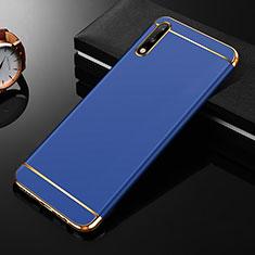 Custodia Lusso Metallo Laterale e Plastica Cover M01 per Huawei Enjoy 10 Blu