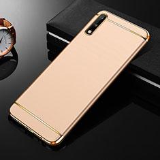 Custodia Lusso Metallo Laterale e Plastica Cover M01 per Huawei Enjoy 10 Oro