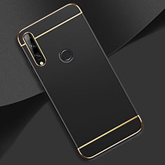 Custodia Lusso Metallo Laterale e Plastica Cover M01 per Huawei Enjoy 10 Plus Nero
