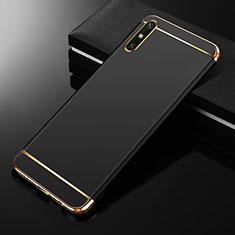 Custodia Lusso Metallo Laterale e Plastica Cover M01 per Huawei Enjoy 10e Nero