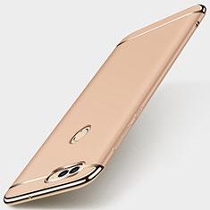 Custodia Lusso Metallo Laterale e Plastica Cover M01 per Huawei Enjoy 7S Oro