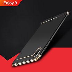 Custodia Lusso Metallo Laterale e Plastica Cover M01 per Huawei Enjoy 9 Nero