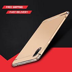 Custodia Lusso Metallo Laterale e Plastica Cover M01 per Huawei Enjoy 9 Oro
