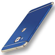 Custodia Lusso Metallo Laterale e Plastica Cover M01 per Huawei G7 Plus Blu