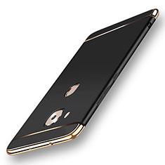Custodia Lusso Metallo Laterale e Plastica Cover M01 per Huawei G7 Plus Nero