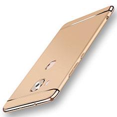 Custodia Lusso Metallo Laterale e Plastica Cover M01 per Huawei G7 Plus Oro