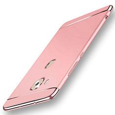 Custodia Lusso Metallo Laterale e Plastica Cover M01 per Huawei G7 Plus Oro Rosa