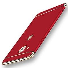 Custodia Lusso Metallo Laterale e Plastica Cover M01 per Huawei G7 Plus Rosso