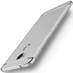 Custodia Lusso Metallo Laterale e Plastica Cover M01 per Huawei GR5 Argento