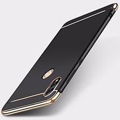 Custodia Lusso Metallo Laterale e Plastica Cover M01 per Huawei Honor 10 Lite Nero