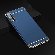 Custodia Lusso Metallo Laterale e Plastica Cover M01 per Huawei Honor 9X Blu