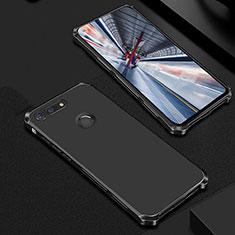 Custodia Lusso Metallo Laterale e Plastica Cover M01 per Huawei Honor View 20 Nero