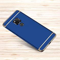 Custodia Lusso Metallo Laterale e Plastica Cover M01 per Huawei Mate 20 X 5G Blu
