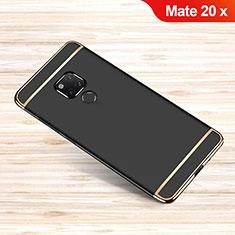Custodia Lusso Metallo Laterale e Plastica Cover M01 per Huawei Mate 20 X 5G Nero