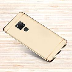 Custodia Lusso Metallo Laterale e Plastica Cover M01 per Huawei Mate 20 X 5G Oro