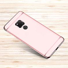 Custodia Lusso Metallo Laterale e Plastica Cover M01 per Huawei Mate 20 X Oro Rosa