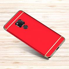 Custodia Lusso Metallo Laterale e Plastica Cover M01 per Huawei Mate 20 X Rosso