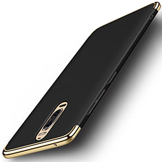 Custodia Lusso Metallo Laterale e Plastica Cover M01 per Huawei Mate 9 Pro Nero