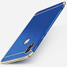 Custodia Lusso Metallo Laterale e Plastica Cover M01 per Huawei P Smart (2019) Blu
