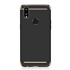 Custodia Lusso Metallo Laterale e Plastica Cover M01 per Huawei P Smart+ Plus Nero