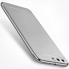 Custodia Lusso Metallo Laterale e Plastica Cover M01 per Huawei P10 Plus Argento