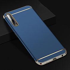 Custodia Lusso Metallo Laterale e Plastica Cover M01 per Huawei Y9s Blu