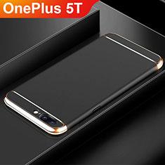 Custodia Lusso Metallo Laterale e Plastica Cover M01 per OnePlus 5T A5010 Nero