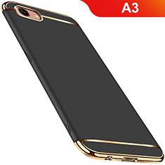 Custodia Lusso Metallo Laterale e Plastica Cover M01 per Oppo A3 Nero