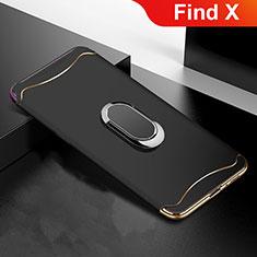 Custodia Lusso Metallo Laterale e Plastica Cover M01 per Oppo Find X Nero