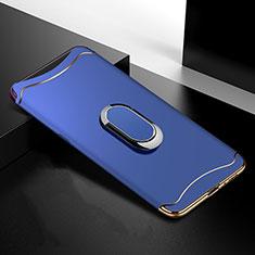 Custodia Lusso Metallo Laterale e Plastica Cover M01 per Oppo Find X Super Flash Edition Blu