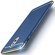 Custodia Lusso Metallo Laterale e Plastica Cover M01 per Samsung Galaxy C8 C710F Blu