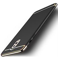Custodia Lusso Metallo Laterale e Plastica Cover M01 per Samsung Galaxy J7 Plus Nero