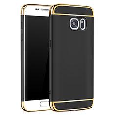 Custodia Lusso Metallo Laterale e Plastica Cover M01 per Samsung Galaxy S7 G930F G930FD Nero