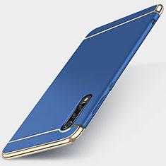 Custodia Lusso Metallo Laterale e Plastica Cover M01 per Xiaomi Mi 9 SE Blu