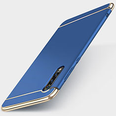 Custodia Lusso Metallo Laterale e Plastica Cover M01 per Xiaomi Mi A3 Lite Blu