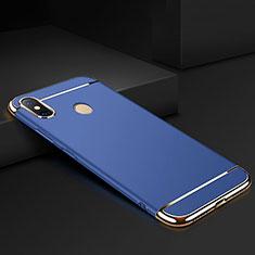 Custodia Lusso Metallo Laterale e Plastica Cover M01 per Xiaomi Mi Max 3 Blu