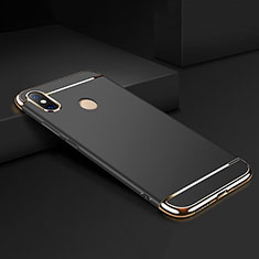 Custodia Lusso Metallo Laterale e Plastica Cover M01 per Xiaomi Mi Max 3 Nero