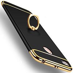 Custodia Lusso Metallo Laterale e Plastica Cover M01 per Xiaomi Redmi 4X Nero