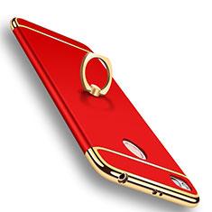 Custodia Lusso Metallo Laterale e Plastica Cover M01 per Xiaomi Redmi 4X Rosso