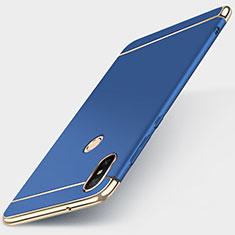Custodia Lusso Metallo Laterale e Plastica Cover M01 per Xiaomi Redmi 6 Pro Blu
