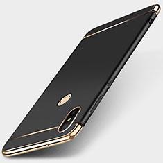Custodia Lusso Metallo Laterale e Plastica Cover M01 per Xiaomi Redmi 6 Pro Nero