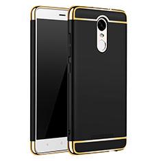 Custodia Lusso Metallo Laterale e Plastica Cover M01 per Xiaomi Redmi Note 3 MediaTek Nero